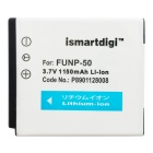 ismartdigi FNP50 1150mAh Battery + Micro USB Charger - White + Black