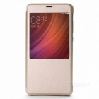 Original Protective Flip Leather Case for Xiaomi Redmi Pro - Golden