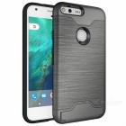 Shock-proof Back Case w/ Holder and Slot for Google Pixel XL - Silver