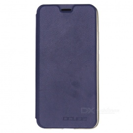OCUBE PU Leather Flip-open Case for UMI PLUS Mobile Phone - Dark Blue