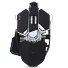 LUOM G10 4000dpi LED Optical USB Wired Mechanical Gaming Mouse - Black