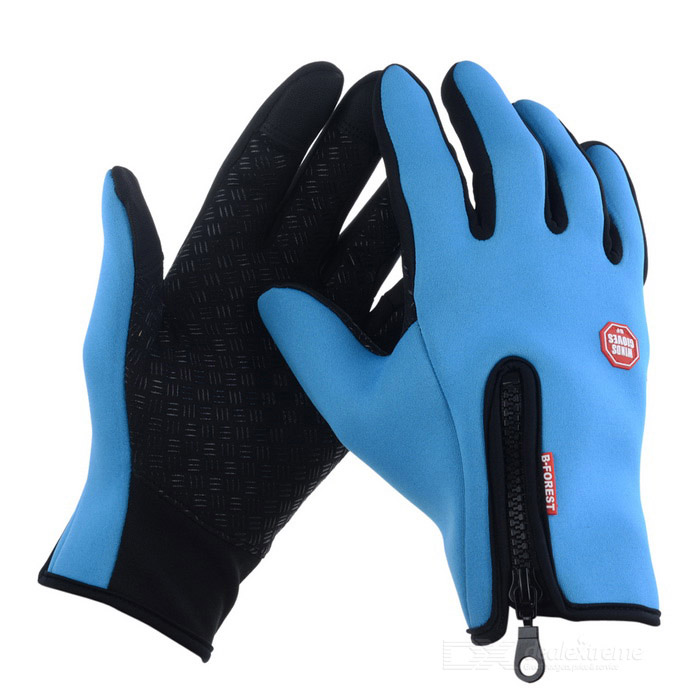 Neoprene Touch Screen Windproof Outdoor Sport Full-Finger GlovesGloves<br>Form ColorBlueSizeMQuantity1 DX.PCM.Model.AttributeModel.UnitShade Of ColorBlueMaterialHigh quality neopreneGenderUnisexSuitable forAdultsBest UseMultisportSeasonsAutumn and WinterPacking List1 * Pair of gloves<br>