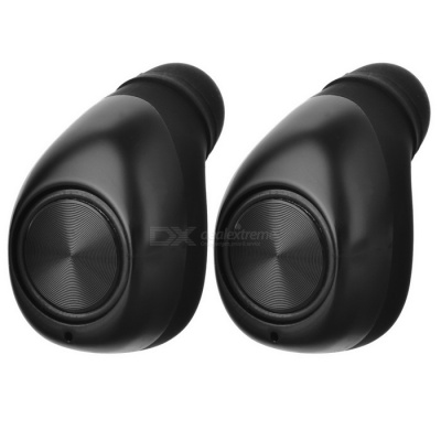 Cwxuan Wireless Bluetooth V4.2 Stereo Headset Earbud Earphone - Black