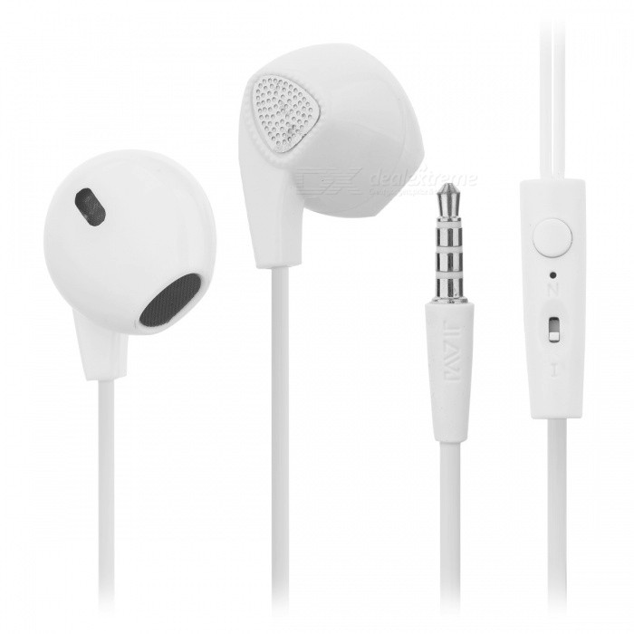 Cwxuan Universal 3.5mm Plug In-ear Wired Earphone w/ MIC - White