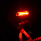 Mini Portable USB Rechargable 15-LED 3-Mode Red Taillight Bike Light