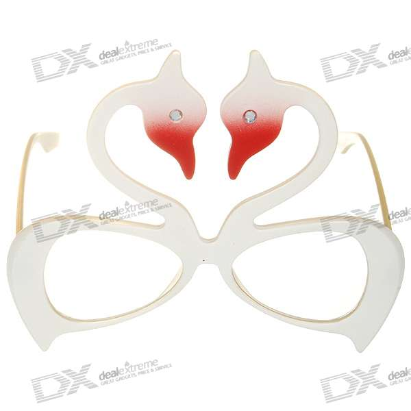 Decorative UV400 Swan Glasses (Color Assorted)