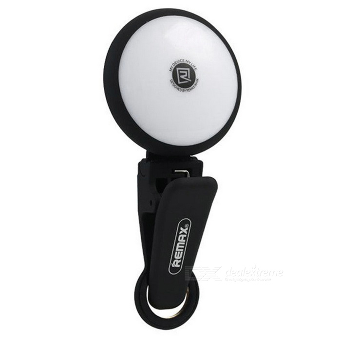 REMAX 8-LED 1W 4600K Self-Timer Spotlight for Night Selfie - Black