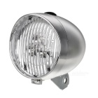 Retro Style Waterproof 2-Mode 3-LED Cycling Bike Light - Silver