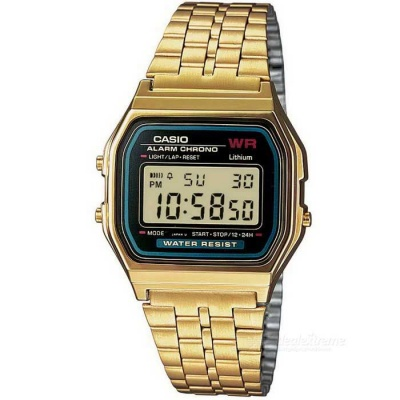 Casio A159WGEA-1DF Unisex Classic Digital Watch - Golden + Black