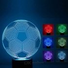 3D Stereo Football Shape LED Colorido Gradient Night Light Table Lamp