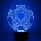 3D Stereo Football Shape LED Colorful Gradient Night Light Table Lamp