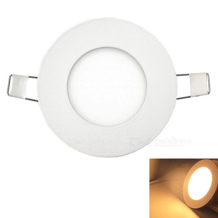 Ultra-thin 3W  250LM 15-2835SMD LEDs Embedded Ceiling Warm White Light