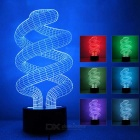 3D Stereo Tornado Shape LED Colorful Gradient Night Light / Table Lamp
