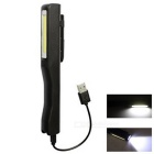 USB Rechargeable COB BK Working Light 2-Mode Neutral White Flashlight for Sporting / Working