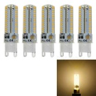 JRLED G9 7W 104-SMD 3014 LED warmes weißes Licht LED-Lampen (110V / 5pcs)