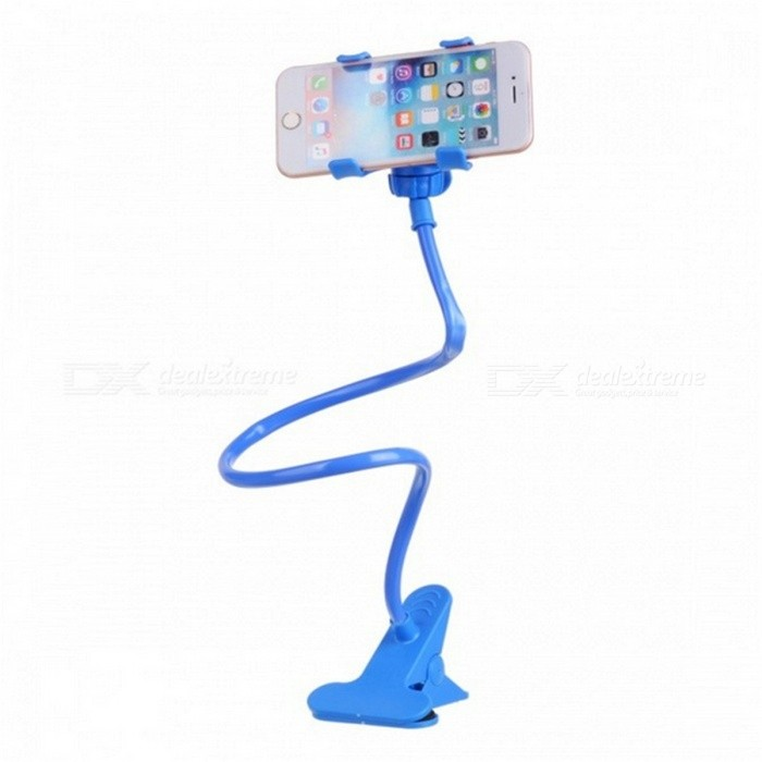 Kelima Lazy Clip-on Bedside Mobile Phone Holder - Light BlueMounts &amp; Holders<br>Form  ColorLight BlueModelKELIMA-061MaterialABSQuantity1 DX.PCM.Model.AttributeModel.UnitMount TypeDesktopCompatible ModelsUniversalOther FeaturesProduct features:<br>1. The clips maximum width up to 10cm, compatible with all most of mobile phones, such as iPhone, Samsung, HTC, Nokia, Xiaomi, Huawei, ZTE etc.<br>2, Made of carbon steel + plastic + + soft plastic, durbale and sturdy.<br>3, Universal hose lets you adjust it to optimal viewing angle freely, convenient to operate.<br>4. Clamp with high quality soft silicone, fully protects your phone from scratch and slip.<br>5. Hand Free Mobile Phone Holder: 100% release your hands, let you enjoy watching movies, listening to music and playing phone games in bedroom, gym, office or basement.<br>6. Suitable for living room, bedroom, study room, and car.Packing List1 * Mobile phone clip<br>
