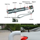 S-001 3-Mode Zooming Flashlight w/ Magnet for In / Outdoor Use - Black