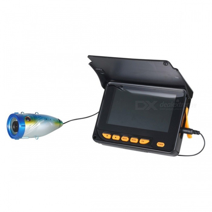 4,3 tums skärm undervatten 20m Fish Finder Video Camera w / 20m Cable