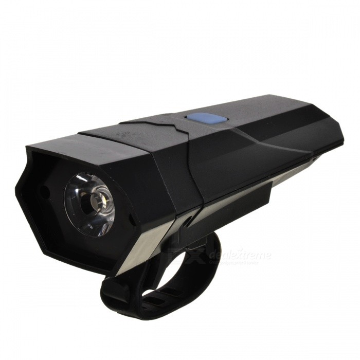 Multifunctional 1W White LED Bike Horn &amp; Flash Light / Torch - BlackBike Light<br>Form  ColorBlackQuantity1 DX.PCM.Model.AttributeModel.UnitMaterialPC + LEDColor BINNeutral WhiteNumber of Emitters1BatteryAAA * 3Battery included or notNoNumber of Modes3Mode ArrangementHi,Slow Strobe,Fast StrobeSwitch TypeClicky SwitchStrap/ClipClip includedApplicationHandle BarWaterproofYesPacking List1 * Light1 * Accessory<br>
