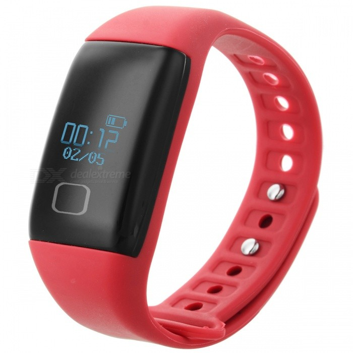"""KICCY T1 0.66"""" OLED TPU + ABS bluetooth v4.0 sport schickes Band - rot"""