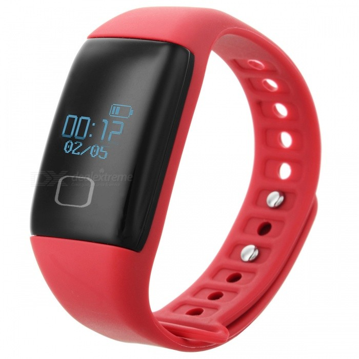 """KICCY T1S 0.66"""" OLED TPU + ABS bluetooth v4.0 sport schickes Band - rot"""