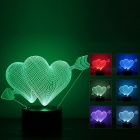 3D Button Night Light LED Colorful Gradient Light Table Lamp - White