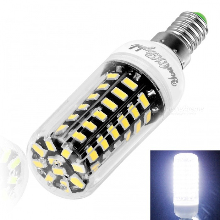 YouOKLight YK1080 E12 64-LED 5733-SMD Cold White Light LED Corn BulbOther Connector Bulbs<br>Color BINCool WhiteModelYK1080MaterialAluminum + PlasticForm  ColorWhite + Black + Multi-ColoredQuantity1 DX.PCM.Model.AttributeModel.UnitPower7WRated VoltageAC 110 DX.PCM.Model.AttributeModel.UnitConnector TypeOthers,E12Chip BrandOthers,CHANG FANGEmitter TypeOthers,5733 SMD LEDTotal Emitters64Theoretical Lumens700 DX.PCM.Model.AttributeModel.UnitActual Lumens560 DX.PCM.Model.AttributeModel.UnitColor Temperature6000KDimmableNoBeam Angle360 DX.PCM.Model.AttributeModel.UnitCertificationCE, ROHS, FCC, WEEEPacking List1 * LED Corn Bulb<br>