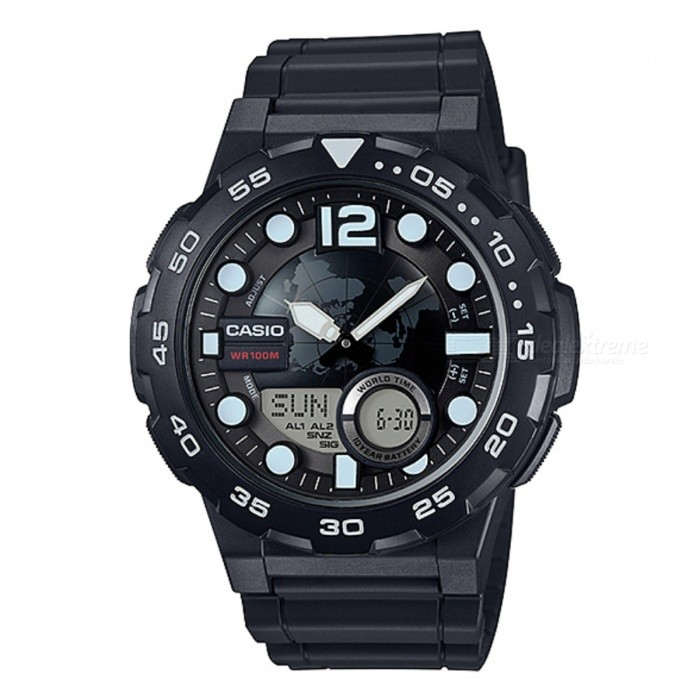 Casio AEQ-100W-1AVDF World Time Watch - Black (Without Box)