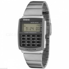 Casio CA-506-1DF Men Quartz Watch w/ Calculator - Silver / Grey