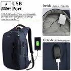 "DTBG D8205W 15.6"" Laptop Storage Backpack w/ USB 2.0 Port - Dark Blue"