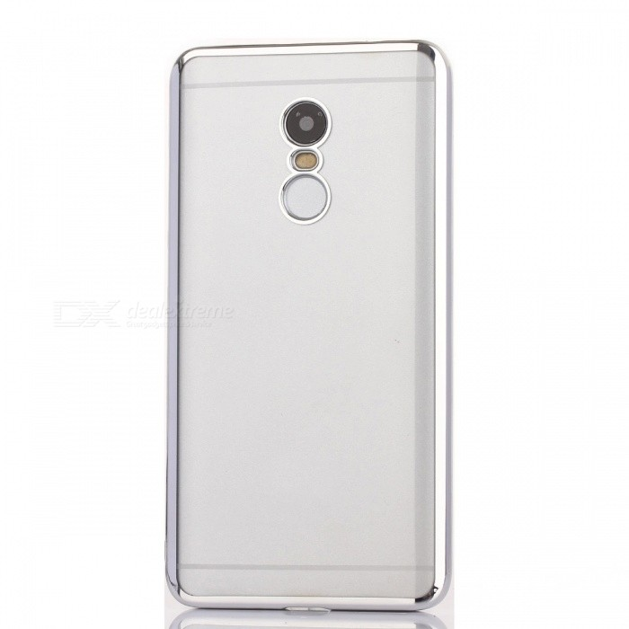 ASLING TPU Ultrathin Transparent Soft Case for REDMI NOTE 4 - SilverTPU Cases<br>Form ColorSilverModel-MaterialTPUQuantity1 DX.PCM.Model.AttributeModel.UnitShade Of ColorSilverCompatible ModelsREDMI NOTE 4Packing List1 * Protective Case<br>