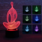 3D Stereo Yoga LED Colorful Gradient Night Light Table Lamp