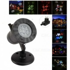 12-in-1 Rotating RGB Light LED Projection Lamp for Christmas - Black