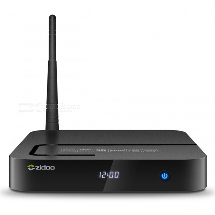 ZIDOO X8 Realtek RTD1295 OpenWRT (NAS) TV Box - Black (AU Plug)Smart TV Players<br>Form  ColorBlackBuilt-in Memory / RAM2GBStorage8GBPower AdapterAU PlugModelZidoo X8Quantity1 DX.PCM.Model.AttributeModel.UnitMaterialPlasticShade Of ColorBlackOperating SystemAndroid 6.0ChipsetRealtek RTD1295 ARMCPUOthers,Realtek RTD1295 ARM Cortex-A53 Quad-Core with floating-point unit and NEON SIMD engine embeddedProcessor FrequencyUp to 2GHzGPUARM T820 MP3 (3-core)Menu LanguageEnglish,French,German,Italian,Spanish,Portuguese,Russian,Vietnamese,Polish,Greek,Danish,Norwegian,Dutch,Arabic,Turkish,Japanese,Bahasa Indonesia,Korean,Thai,Maltese,Hungarian,Latin,Persian,Malay,Slovak,Czech,Greek,Romanian,Swedish,Finnish,Chinese Simplified,Chinese Traditional,Bulgarian,Norwegian,HebrewRAM/Memory TypeDDR3 SDRAMMax Extended Capacity32GBSupports Card TypeMicroSD (TF)External HDD2TBWi-FiIEEE 802.11a/b/g/n, 802.11AC,4.900 GHz ~ 5.845 GHz (5.0 GHz ISM Band) RTK8821 dual-band WIFIBluetooth VersionBluetooth V4.03G FunctionNoWireless Keyboard/Mouse2.4Ghz / 5GhzAudio FormatsMP3,WMA,APE,FLAC,OGG,AC3,DTS,AACVideo FormatsRM,RMVB,AVI,DIVX,MKV,MOV,HDMOV,MP4,M4V,PMP,AVC,FLV,VOB,MPG,DAT,MPEG,H.264,MPEG1,MPEG2,MPEG4,WMV,TP,CD,VCD,DVD,BD,H.265Audio CodecsDTS,AC3,LPCM,FLAC,HE-AACVideo CodecsMPEG-1,MPEG-2,MPEG-4,H.264,VC-1,H.265Picture FormatsJPEG,BMP,PNG,GIF,TIFF,jps(3D),mpo(3D)Subtitle FormatsMicroDVD [.sub],SubRip [.srt],Sub Station Alpha [.ssa],Sami [.smi]idx+subPGSOutput Resolution4KHDMIHDMI 2.0aAudio OutputHDMI, AVVideo OutputHDMI, AVOther Interface1 * USB3.0<br>2 * USB2.0<br>1 * TF card reader SD card interface . Support 1GB/2GB/4GB/8GB/16GB/32GB<br>1 * IR receiver<br>1 * Composite video and audio port (Cvbs output)<br>1 * S/SPDIF (2CH, 5.1CH)<br>1 * VFD displayPower Supply100~240VAPP Built-inKodiCompatible ApplicationFacebook,Youtube,Skype,Netflix,XBMC,HuluPacking List1 * TV box1 * IR remote1 * HDMI cable (100cm)1 * Power adapter (100cm / AU Plug)1 * English User manual<br>