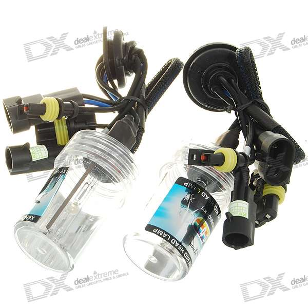 Compact 9005 4300K 3200-Lumen Super Vision Xenon HID Vehicle Warm White Light Headlamp Kit (Pair)