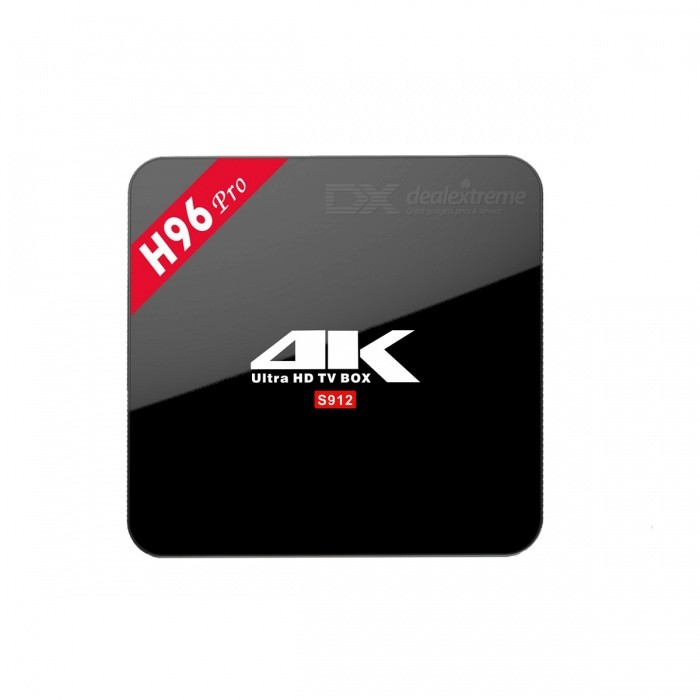 H96 PRO Amlogic S912 Octa-Core TV Box w/ 2GB DDR3, 16GB ROM (AU Plug)Smart TV Players<br>Form  ColorBlackBuilt-in Memory / RAM2GBStorage16GBPower AdapterAU PlugModelH96 PROQuantity1 DX.PCM.Model.AttributeModel.UnitMaterialABSShade Of ColorBlackOperating SystemAndroid 6.0ChipsetAmlogic S912CPUOthers,Cortex-A53Processor Frequency2.0GPUARM Mali-T820MP3Menu LanguageEnglish,French,German,Italian,Spanish,Portuguese,Russian,Dutch,Arabic,Japanese,Thai,Greek,Chinese Simplified,Chinese TraditionalMax Extended Capacity32GBSupports Card TypeMicroSD (TF)Wi-Fi802.11 a/b/g/nBluetooth VersionBluetooth V4.03G FunctionNoWireless Keyboard/Mouse2.4G / 5.8GAudio FormatsMP3,WMA,FLAC,OGG,AC3,DTSVideo FormatsRM,AVI,MKV,MOV,MP4,MPEG1,MPEG4,WMVAudio CodecsDTS,AC3,FLAC,HE-AACVideo CodecsH.264,H.265Picture FormatsJPEG,BMP,GIFSubtitle FormatsSub Station Alpha [.ssa]Output Resolution1080PHDMIHDMI 2.0 up to 4K 2K@60FPSUSBUSB 2.0Power Supply5V / 2APacking List1 * H96 PRO TV Box1 * Remote Control1 * HDMI Cable(100+/-2cm)1 * AU Power Adapter1 * English Manual<br>