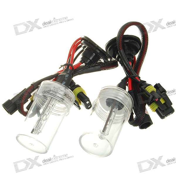 Compact H1 4300K 3200-Lumen Super Vision Xenon HID Vehicle Warm White Light Headlamp Kit (Pair)