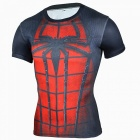 Multi-functional Spiderman Short-sleeved Men's Tights Shirt (XL)