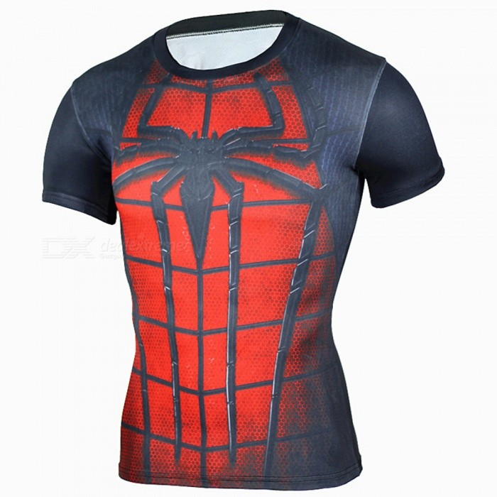 Multi-functional Spiderman Short-sleeved Mens Tights Shirt (L)Form ColorRed + BlackSizeLQuantity1 DX.PCM.Model.AttributeModel.UnitMaterialPolyesterShade Of ColorRedSeasonsSpring and SummerGenderMensShoulder Width45 DX.PCM.Model.AttributeModel.UnitChest Girth100 DX.PCM.Model.AttributeModel.UnitSleeve Length25 DX.PCM.Model.AttributeModel.UnitTotal Length66 DX.PCM.Model.AttributeModel.UnitSuitable for Height170-180 DX.PCM.Model.AttributeModel.UnitBest UseCross-training,Yoga,Running,Climbing,Rock Climbing,Family &amp; car camping,Backpacking,Camping,Mountaineering,Travel,Cycling,Triathlon,Cross-trainingSuitable forAdultsPacking List1 * Mens Tights<br>
