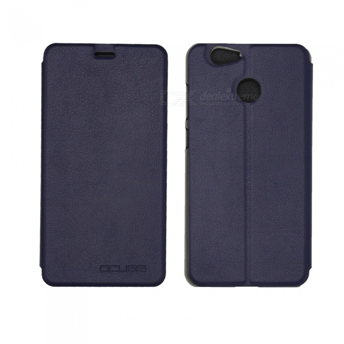 OCUBE PU Leather Case for Blackview E7 / E7 S Mobile Phone - Deep Blue