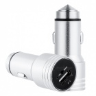 Multifunctional Bluetooth Charger with FM Transmitter - Silvery White