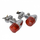 CARKING Motorcycle Yellow Turn Signal Light - Pointed Head (2 PCS)