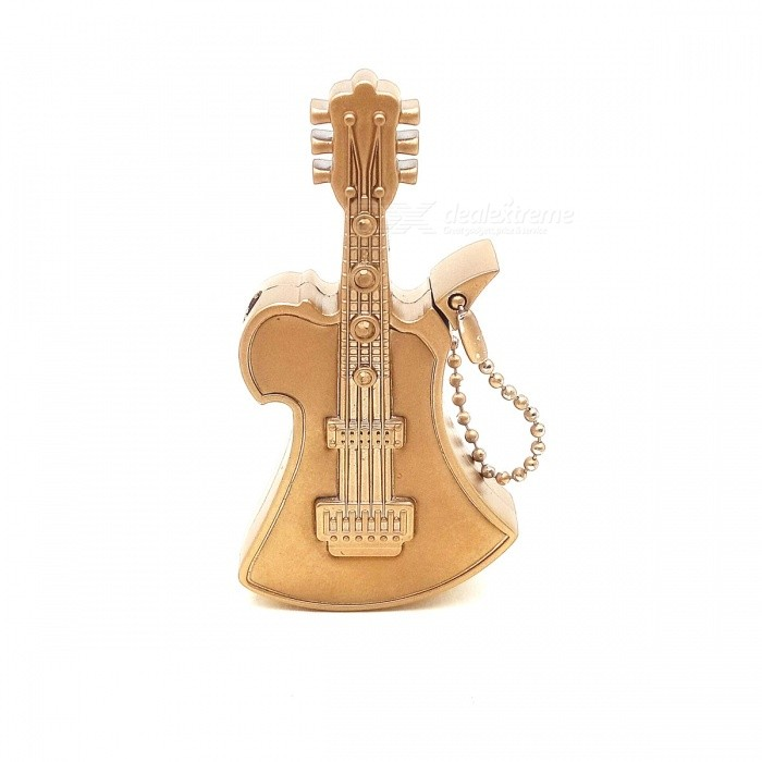 Novel Creative Music Guitar Gas Lighter - GoldenButane Jet Lighters<br>Form  ColorGoldenModel-Material-Quantity1 DX.PCM.Model.AttributeModel.UnitShade Of ColorGoldTypeGasWindproofNoFuelGasPacking List1 * Gas Lighter<br>