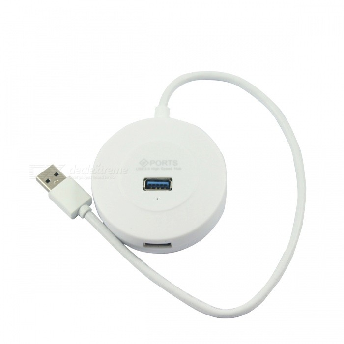 BSTUO 4-Port USB3.0 HUB w/ 30cm Cable - White