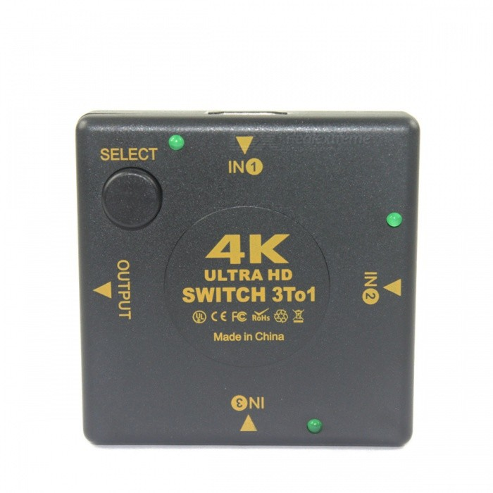 BSTUO 4K * 2K Ultra HD HDMI Splitter Switcher - BlackLaptop/Tablet Cable&amp;Adapters<br>Form  ColorBlackModelN/AQuantity1 DX.PCM.Model.AttributeModel.UnitShade Of ColorBlackMaterialABSInterfaceOthers,HDMICompatible BrandAPPLE,Dell,HP,Toshiba,Acer,Lenovo,Samsung,MSI,Sony,IBM,Asus,Thinkpad,HuaweiCompatible ModelHDMI universialPacking List1 * HDMI switcher<br>