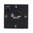 BSTUO Ultra HD 3-Port HDMI Splitter Hub Box / Auto Switch - Black