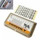 ZIQIAO Temporary Car Parking Plate / Phone Number Card Holder - Beige