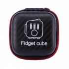 Relieve Pressure Fidget Dice Cube Key Chains Box - Black
