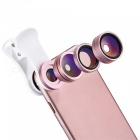 Benks 4-in-1 External Phone Lens Kits with Holder - Rose Gold