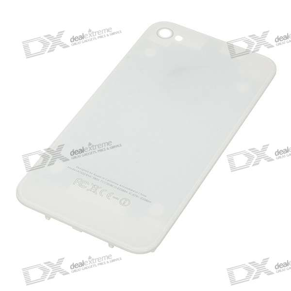 Replacement Plastic Backside Cover  for iPhone 4 (White)